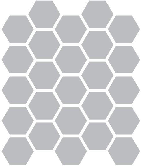1 5 inch hexagon template - classic field clayhaus tileclayhaus tile